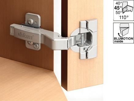 Scharniere vernickelt BLUM Clip Kreuz Montage Platten 175H71 für Möbel Bänder